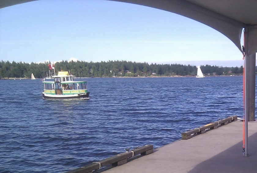 Day 4: Catching the passenger ferry from Nanaimo to Newcastle Island