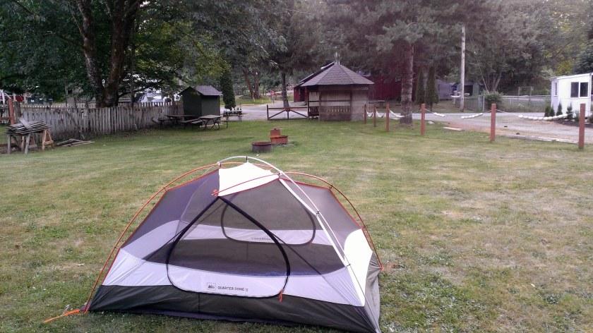 Night 1: Cascade Kamloops Trout Farm & RV Park in Darrington, WA