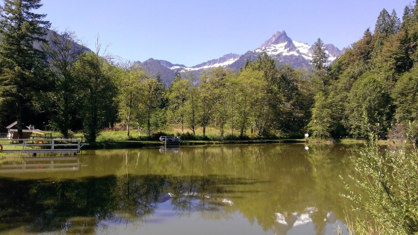 The trout pond. Darrington, WA