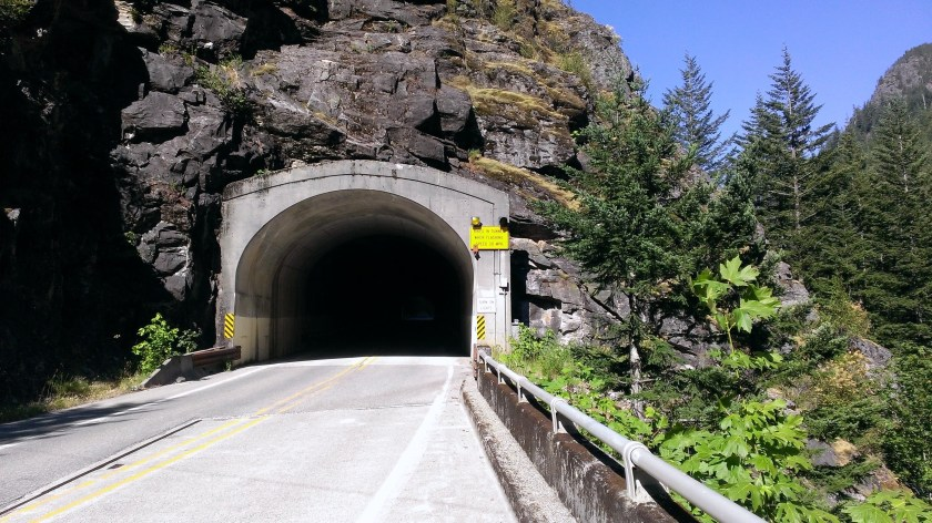 Tunnel on Highway 20